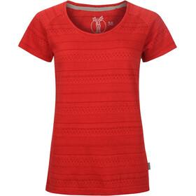Elkline Marbella Bluzka z krótkim rękawem Kobiety czerwony